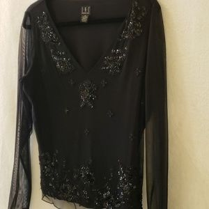Sheer Sequin Blouse